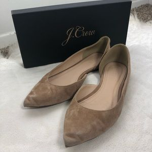 J Crew Audrey Suede Point Flats